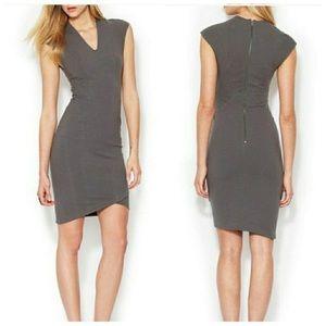 Helmut Lang Grey Short Casual Dress Asymmetrical